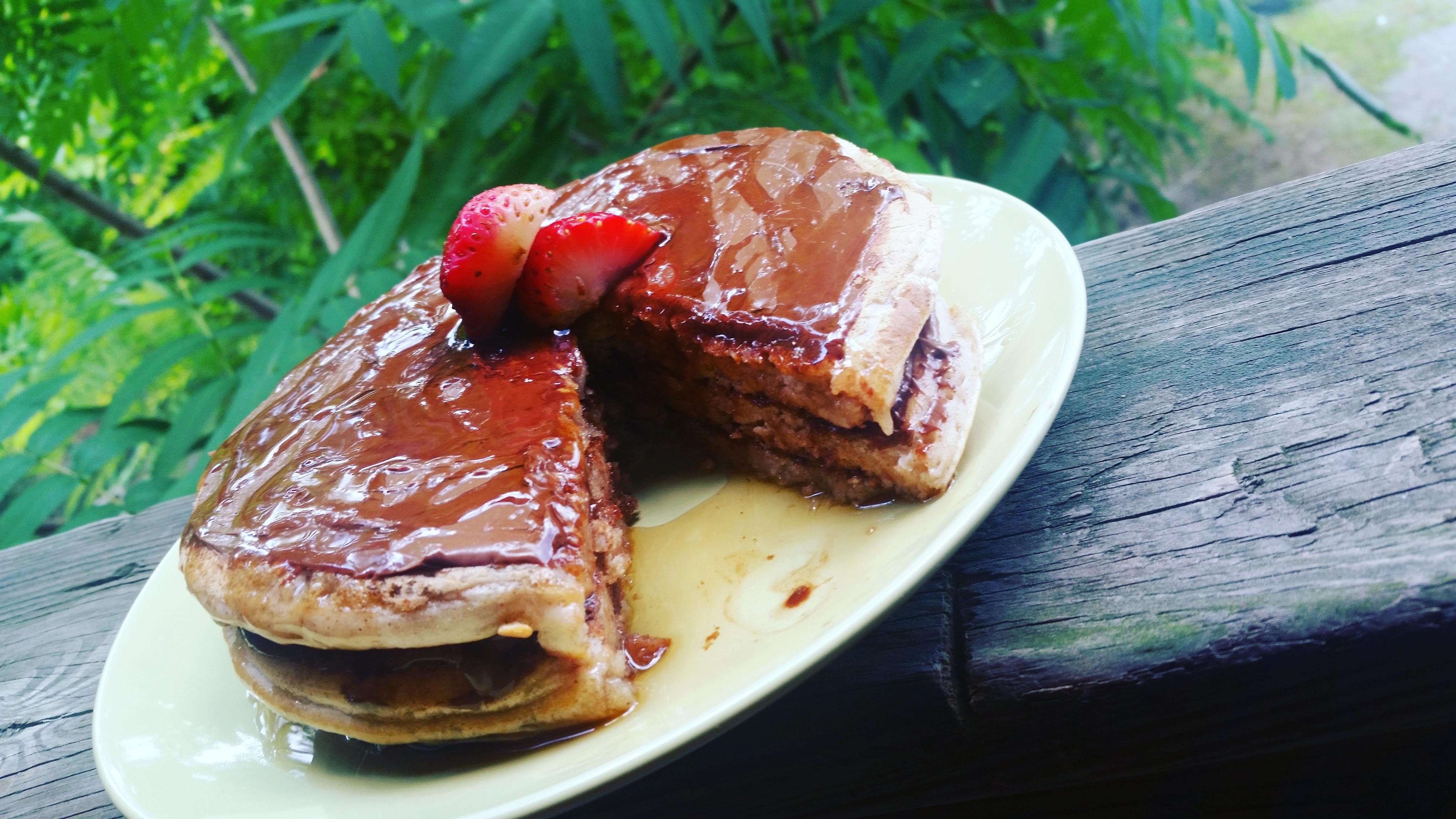 Nutella Cinnamon Pancakes
