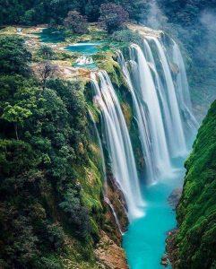 Tamul waterfall in the Huasteca Potosina, Mexico