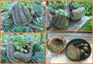 DIY Concrete Garden Hand