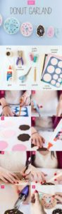 DIY donut garland
