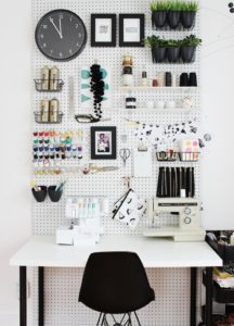 pegboard diy craftroom