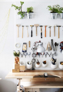 the design files pegboard tool rack