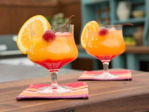 Summer Drinks Tequila-Sunrise