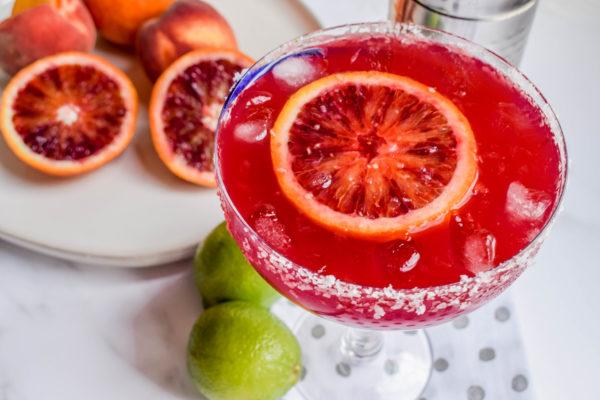 Blood Orange Peachy Margarita