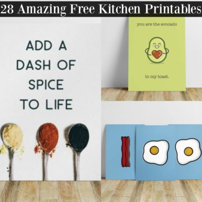 28 Amazing and Free Kitchen Printables