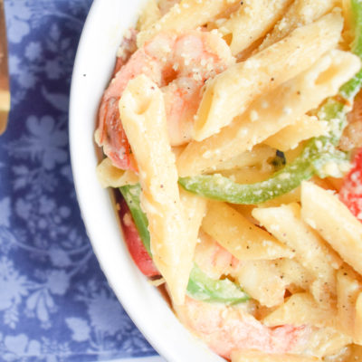 Easy to Make Shrimp Pasta in Coconut Sauce
