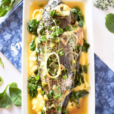 Steamed Whole Fish (Jamaican Style with a twist)