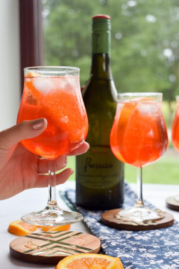 Campari Spritz, Aperol Spritz, Italian Cocktail
