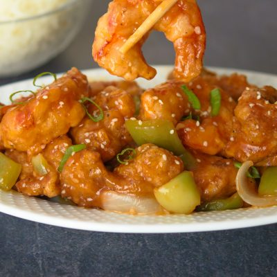 Sweet and Sour Chicken and Shrimp