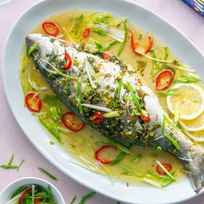 Herb Roasted Whole Branzino