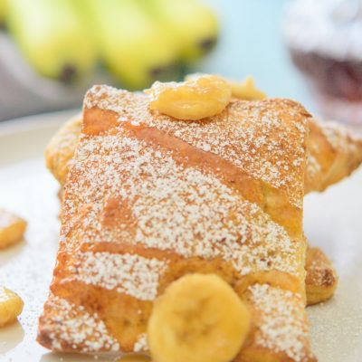 Banana Stuffed French Toast Bites