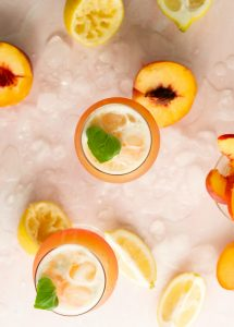 Peachy Basil Cocktail