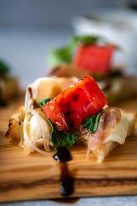 Prosciutto Mozzarella Crostini