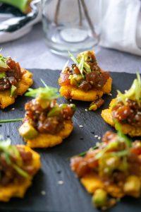Spicy Tuna Tostones