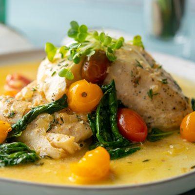 Seared Halibut in Curry Butter Sauce Recipe